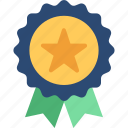 award, reward, ribbon badge, star badge, winner badge icon
