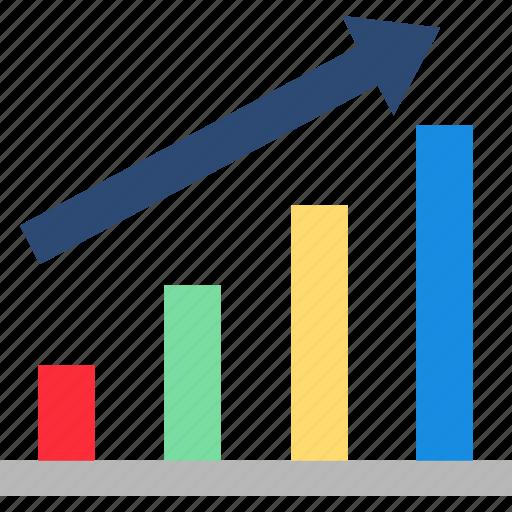 bar graph, calculation, economics, growth chart, statistics icon