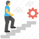 business development, career development, career growth, career ladder, career path icon