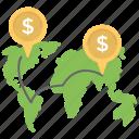 global business, global economics, international business, international trade, worldwide business icon