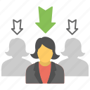 employment, human resource, recruitment, talent search, team selection icon