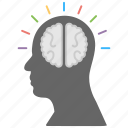 creative brain, creativity, development, innovation, novelty icon