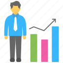 business development, business progress, businessman growth, marketing business, profit icon