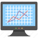 analysis, graph data, growth dynamics, sale dynamics, statistics icon