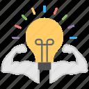 big idea, brain power, creativity imagination, intelligence, mind power icon