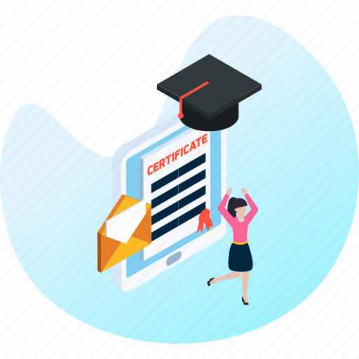 education, graduation, knowledge, learning, student, study, university icon