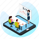 analysis, analytics, growth, management, meeting, presentation, statistics icon