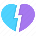 anxiety, broken, depression, died, heart, suicide icon