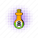 bottle, comics, cork, danger, liquid, poison, toxin icon