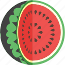 cut, fruit, sliced, summer, vegetable, watermelon icon