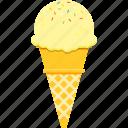 corn, dessert, ice cream, snack, soft serve, summer, waffle