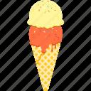 corn, dessert, ice, ice cream, soft serve, summer, waffle corn icon