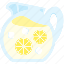 bevereage, juice, lemon, lemonade, summer icon