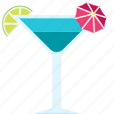 alcohol, beach, beverage, cocktail, summer, tropical icon