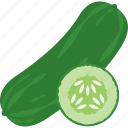 cucumber, food, summer, vegetable icon