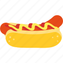bbq, food, hotdog, lunch, sausage, snack, summer icon