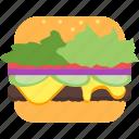 bbq, food, hamburger, lunch, meal, sandwich, summer icon