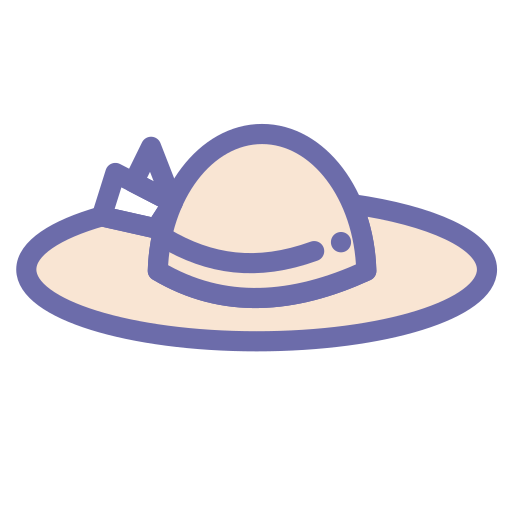 beach, hat, holiday, vacation icon