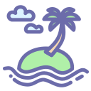 beach, island, summer, vacation icon