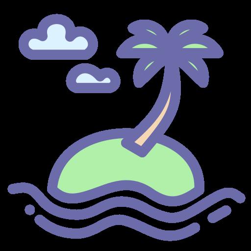 beach, island, summer, vacation icon