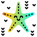 beach, ocean, sea, starfish, tropical icon
