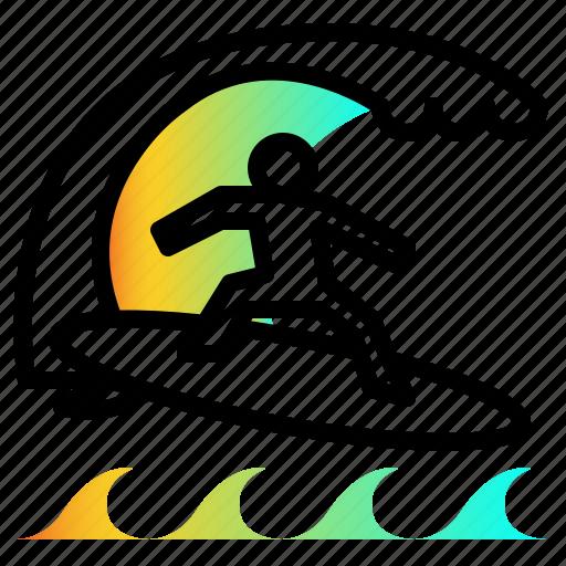 sport, surf, surfing, wind, windsurfing icon