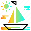 boat, cruise, sea, water, yacht icon