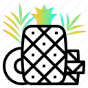 fresh, fruit, pineapple, sweet, tropical icon