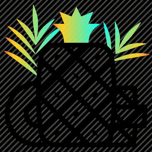 fresh, fruit, pineapple, sweet, tropical icon