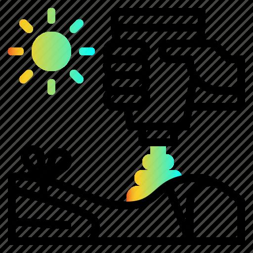 care, protection, skin, sun, sunblock icon