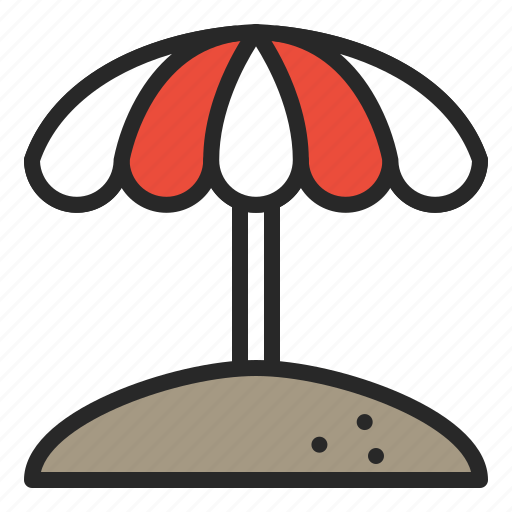 Beach, beach umbrella, parasol, summer, umbrella, vacation icon - Download on Iconfinder
