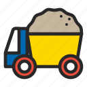 beach, beach toy, sand toy, summer, toy, track icon