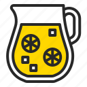 beverage, drink, glass, juice, lemonade, summer icon