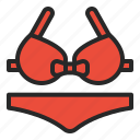 beach, bikini, pool, sea, summer, swimming icon