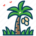 coconut tree, nature, palm tree, summer, vacation icon