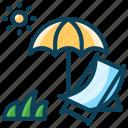 holiday, resort, seashore, summer, umbrella, vacation