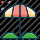 beach, beach umbrella, holiday, resort, summer, vacation icon
