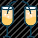 beverage, drink, fruit juice, juice glass, summer, wine icon