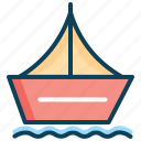 sail, sailing boat, ship, summer, transport, vacation icon