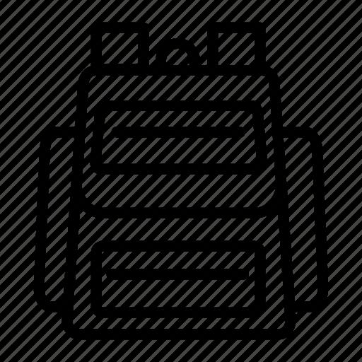 bagpack, pack, school, school bag, travel, trip bag, vacation icon