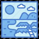 beach, flipflop, sea, seascape icon