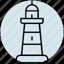 tower, vacation, beach, summer, sea, marine, lighthouse icon