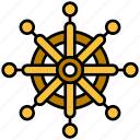 equipment, rudder, sailor, ship, steer wheel, summer icon
