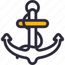 anchor, ship, boat, sea