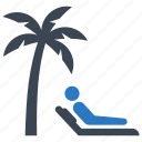 sunbed, vacation, beach icon