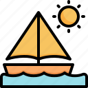 boat, sea, holiday, vacation, summer, sailing