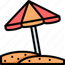umbrella, beach, holiday, vacation