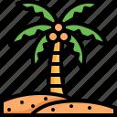 coconut, tree, holiday, vacation, beach, summer