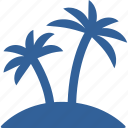 beach, coconut, island, palm, sea, summer, vacation icon