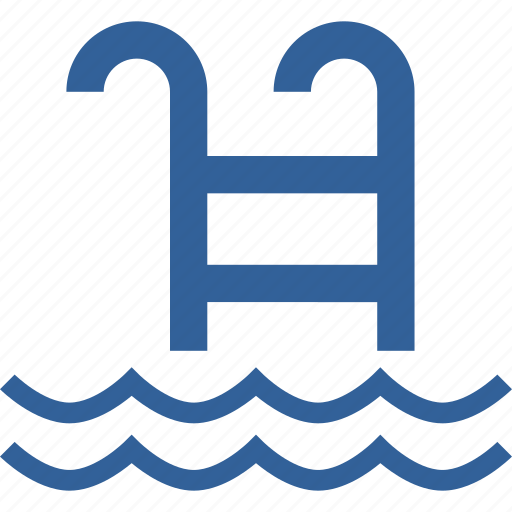 hotel, ladder, pool, resort, summer, swim, swimming icon